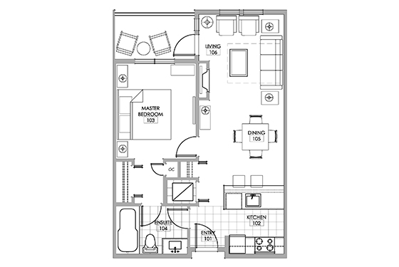 Sauvignon room floor plan.