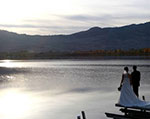 Wedding on lake Osoyoos